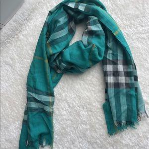 Burberry lightweight wool silk scarf
